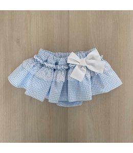 LAIVICAR Vichy skirt LIGHT BLUE