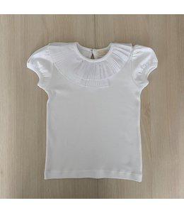 LAIVICAR Witte top met speciale dubbele plisékraag