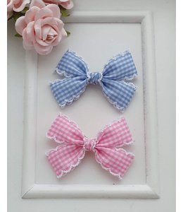 HELENA'S BOWTIQUE Vichy Classic Bow  PINK