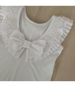 LAIVICAR Beautiful top with cut-out back and bow WHITE
