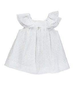 PURETE DU BEBE Beautiful white dress with embroidery details