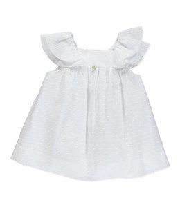 PURETE DU BEBE Prachtige witte jurk met broderie details