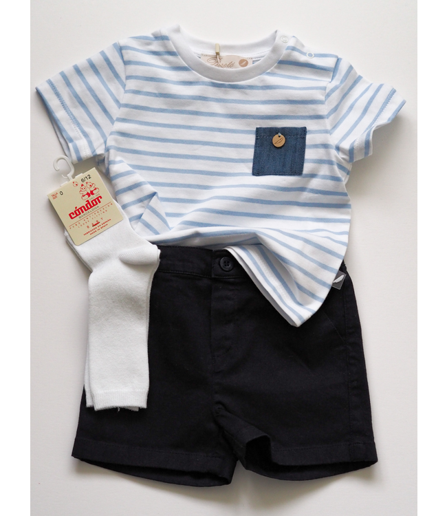 PURETE DU BEBE Striped T-shirt with pocket
