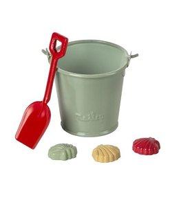 MAILEG Beach set - shovel, bucket and shells