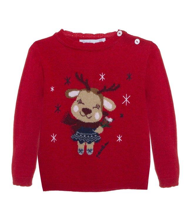 PATACHOU PATACHOU   Christmas  Sweater Ella Red