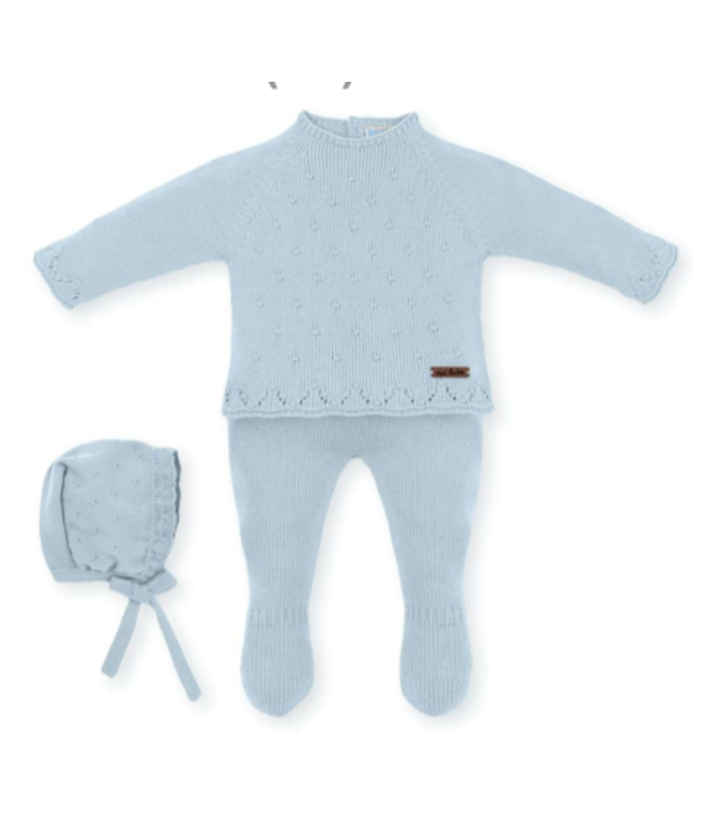 MAC ILUSION Knitted suit Morris - LIGHT BLUE