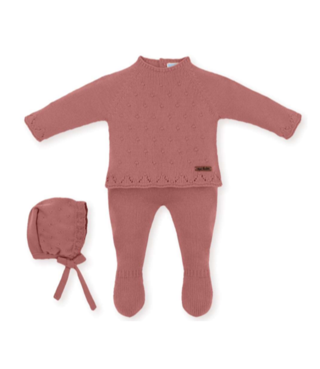 MAC ILUSION Knitted suit Morris - TERRACOTTA
