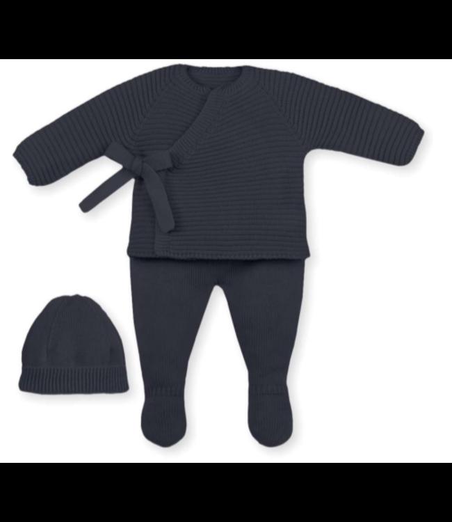 MAC ILUSION  Newborn suit ROBIN - NAVY BLUE
