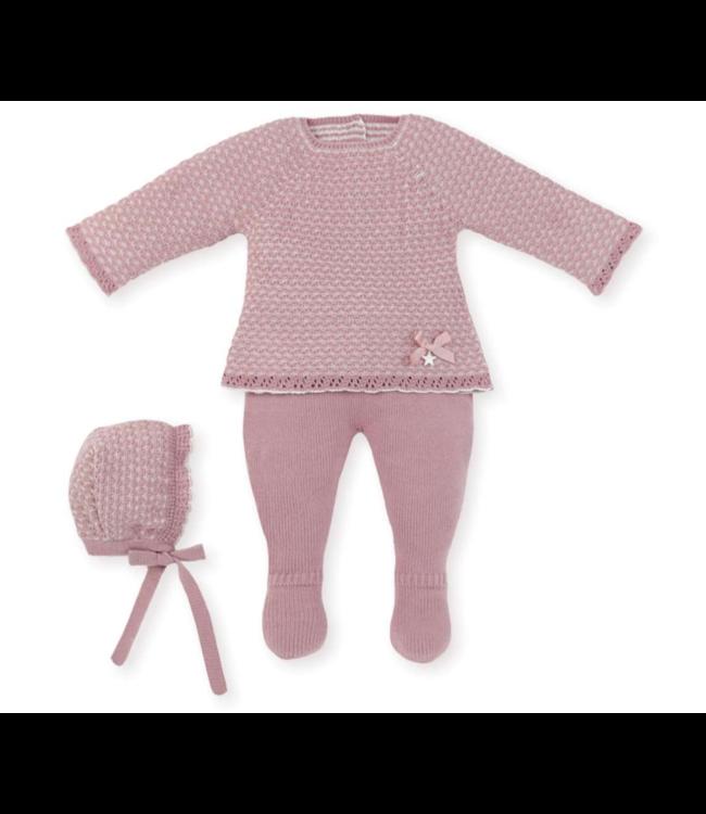 MAC ILUSION  Newborn suit Cecile - OLD PINK