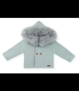 MAC ILUSION Faux fur jacket Alina - MINT