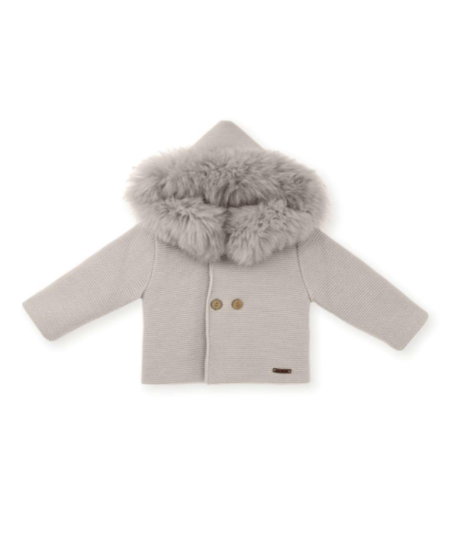 MAC ILUSION  Faux fur jacket Alina - SAND