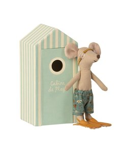 MAILEG Beach cabine big brother mouse