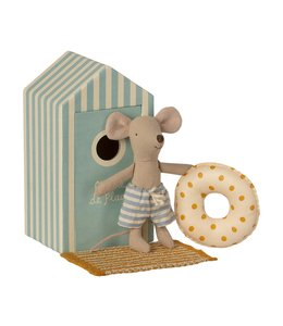 MAILEG Beach cabine little brother mouse