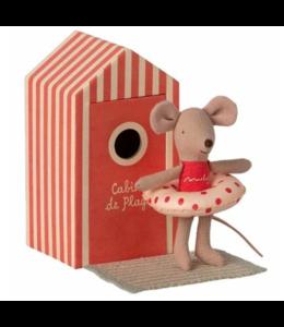MAILEG Beach cabine little sister mouse