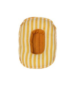 MAILEG Rubber boat with yellow stripes