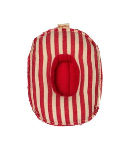 MAILEG Rubber boat with red stripes
