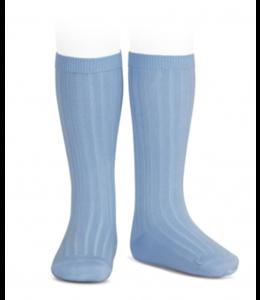 CONDOR  Ribbed knee socks Blush