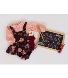 MAC ILUSION Balerina romper with blouse IRIS - BURGUNDY