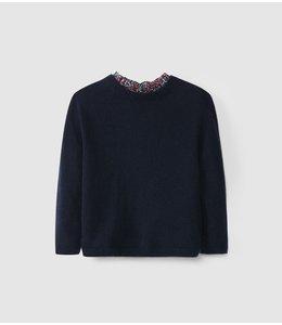 LARANJINHA Sweater Naomi Marineblauw