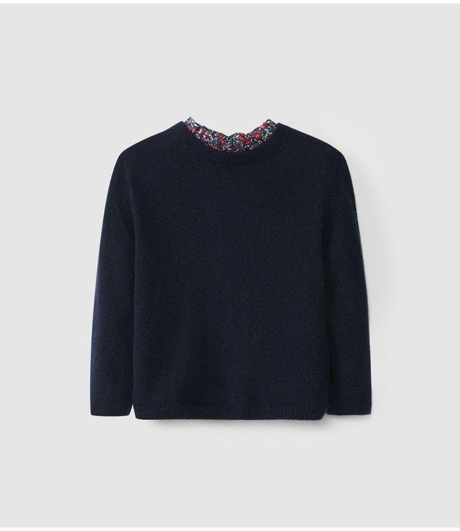LARANJINHA LARANJINHA   Sweater Naomi Light Navy Blue