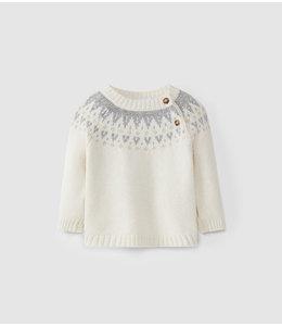 LARANJINHA Sweater Pieter Naturel - Grijs