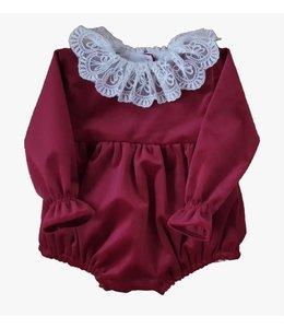 Velvet bodysuit Alice - BURGUNDY