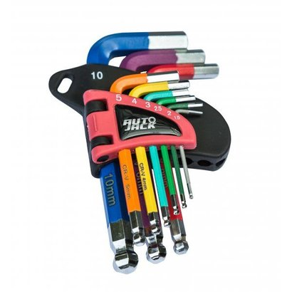 HKS9S Short Ball End Hex Key Set Color-Coded
