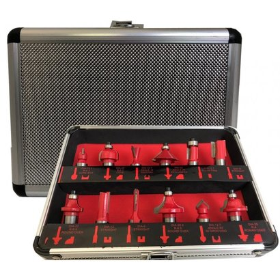 "1/2"" Router cutter set 12-Piece   RCS12P12"