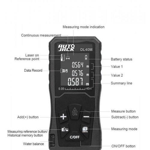 Autojack DL40M digitales Messgerät