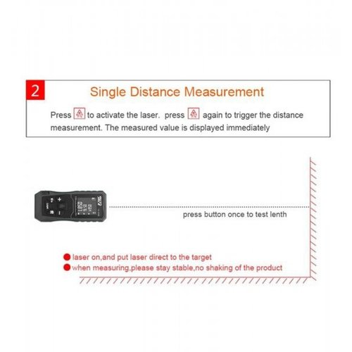 DL40M Handheld Digital Laser Point Distance Meter Tape Range Finder Measure 40m 131ft