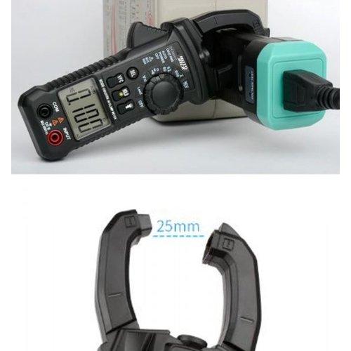 DCM600 Digital Clamp Meter AC/DC Current Voltage Multimeter Temp Tester Flashlight