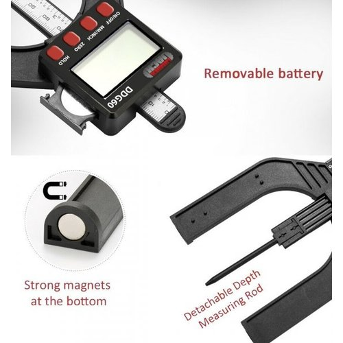 DDG60 LCD Digitales Höhen- und Tiefenmessgerät