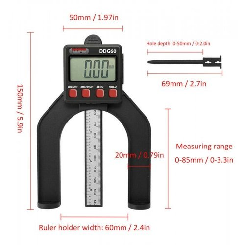 Lumberjack  LCD digitale dieptemeter - DDG60