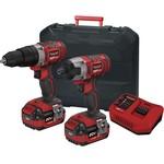 Cordless drill & impact screwdriver XP2PAK - 20V, 4 Ah