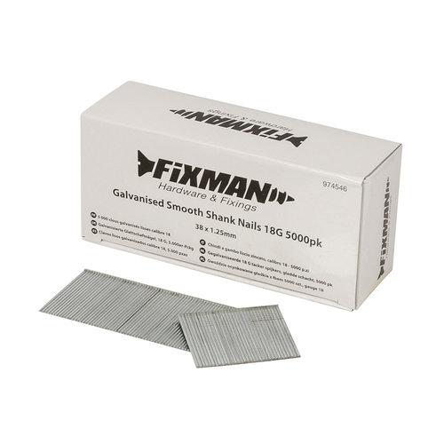 Fixman Spijkers voor tacker - 38x1.25mm - 5000st.