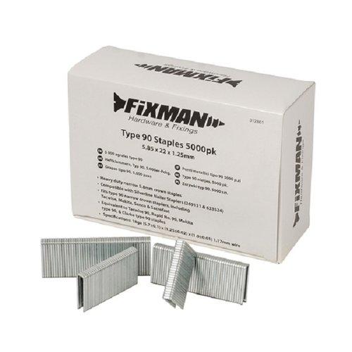 Fixman Type 90 nietjes - 5000 st. - 5.85x22x1.25mm