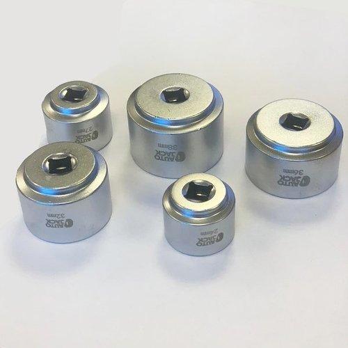 Autojack 5-teiliger Ölfiltersatz 24, 27, 32, 36 & 38 mm