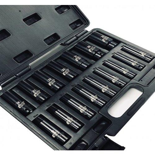 Autojack Socket Sets 12SS16D 1/2 Inch Sq Drive Deep Metric Impact Socket Set 16pc