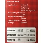 Lumberjack Decoupeerzaagbladen -set van 5st. - JSBT101B