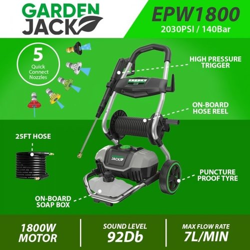 Gardenjack Hochdruckreiniger elektrisch 140 bar - EPW1800