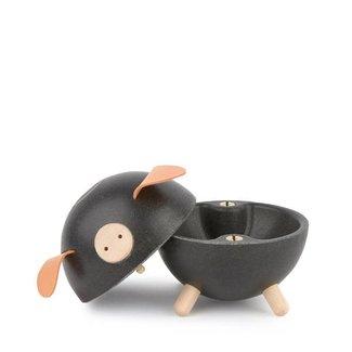 Plan Toys Spaarpot Varken | Zwart