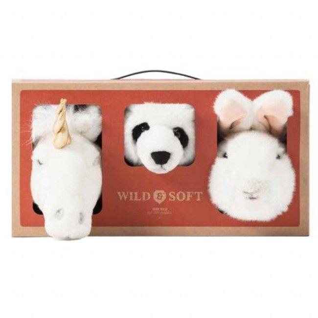 Wild & Soft Lovely Box Mini | Eenhoorn, Panda & Konijn