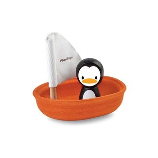 Plan Toys Zeilboot met Pinguin