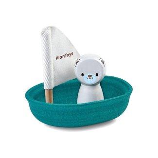 Plan Toys Zeilboot met IJsbeer