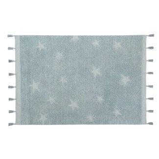 Lorena Canals Wasbaar Vloerkleed Hippy Stars | Aqua Blue