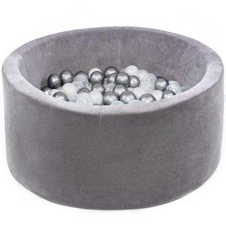Misioo Ballenbad Velvet Grey, incl. 200 ballen