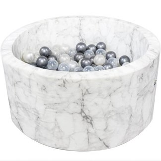 Misioo Ballenbad XL Rond 90x40 | White Marble