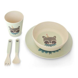 Eef Lillemor Bamboo Eco Dinner Set | Circus Raccoon