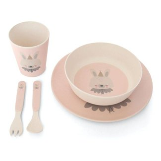 Eef Lillemor Bamboo Eco Dinner Set | Circus Bunny