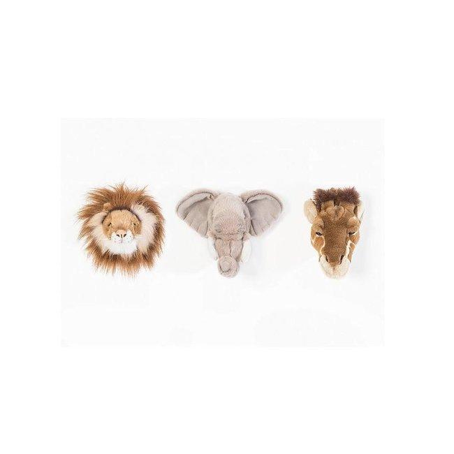 Wild & Soft Safari Box Mini | Leeuw, Olifant & Giraf